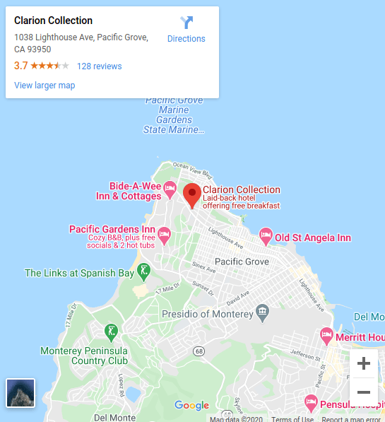 google maps preview of property location